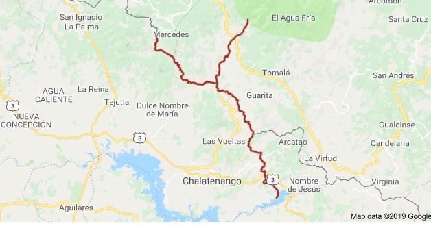 Mapa del río Sumpul