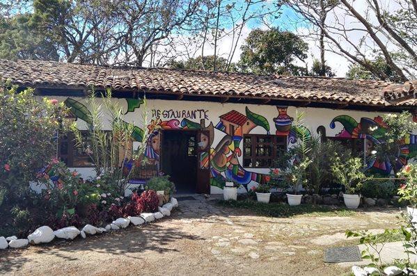 Restaurante del Hotel La Palma, en Chalatenano