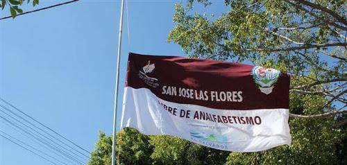 San José Las Flores, municipio libre de analfabetismo
