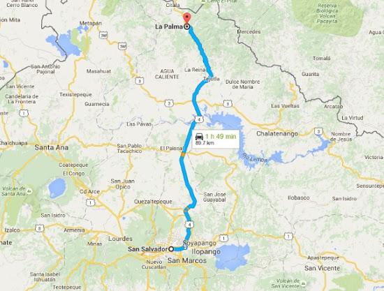 C mo llegar a la palma chalatenango en bus chalatenangosv - La maquinista como llegar ...