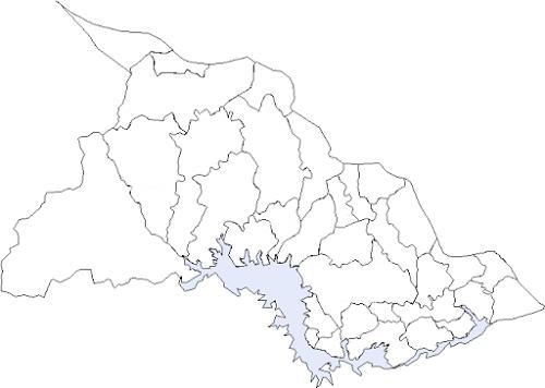 Mapa de Chalatenango y sus municipios