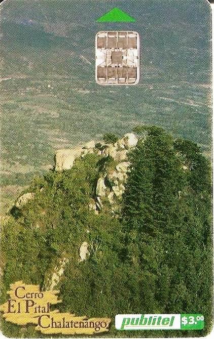 Peñón de Cayaguanca en una tarjeta (2001)
