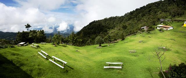 Zona de acampar, cerro El Pital