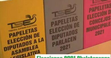 Resultados elecciones 2021 departamento de Chalatenango
